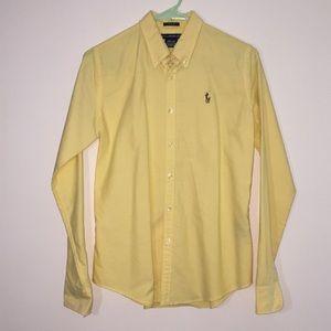 Ralph Lauren Yellow Slim Fit Button Down - 8